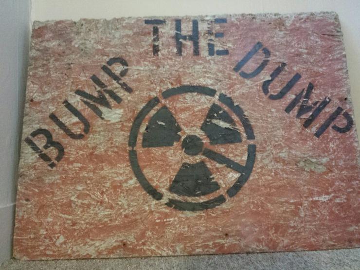 Bump the Dump Sign